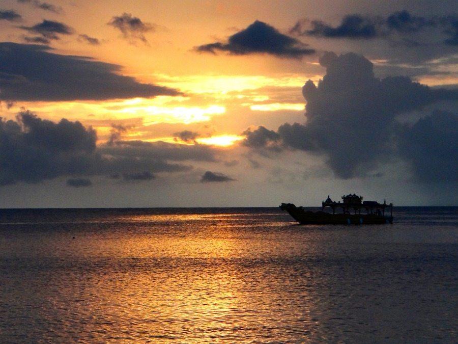 A Jamaican sunset