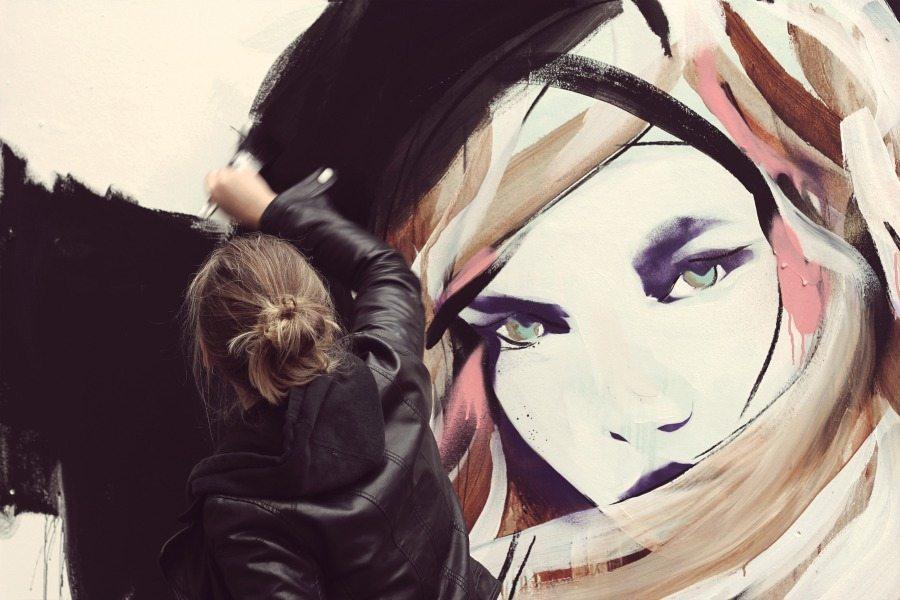 Emerging street artists in London