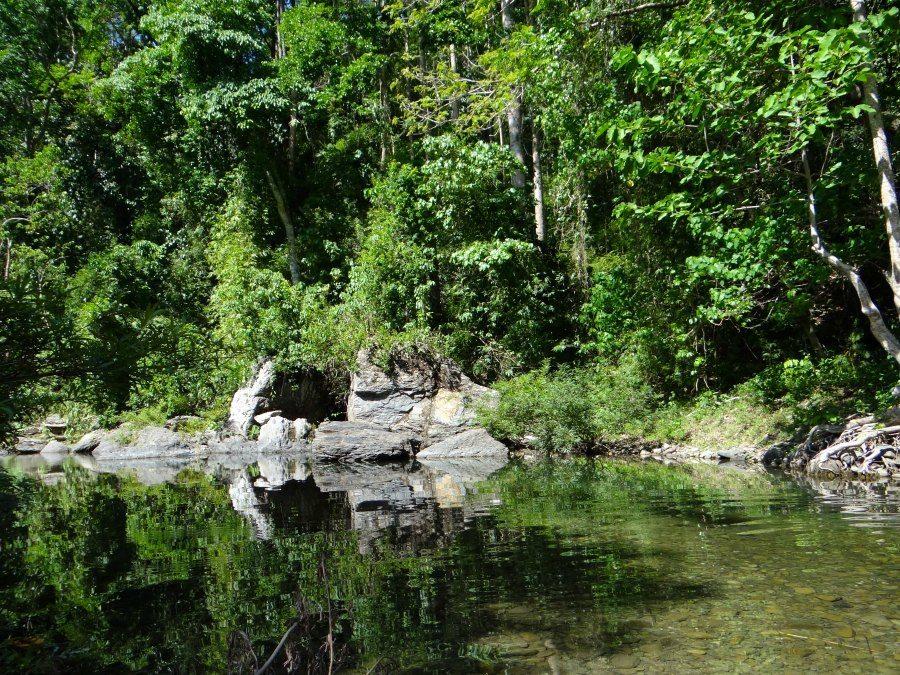 hiking to the Batak village