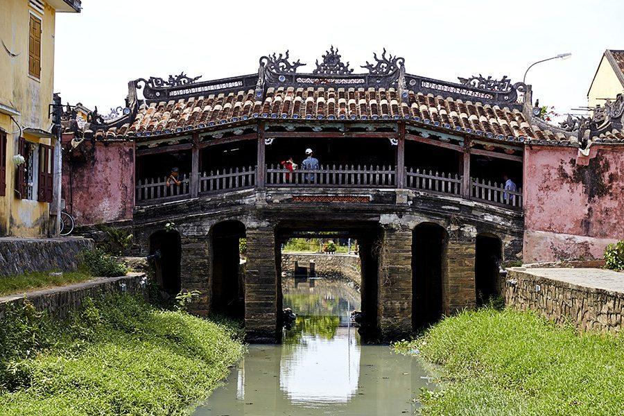 iconic bridge in Hoi An